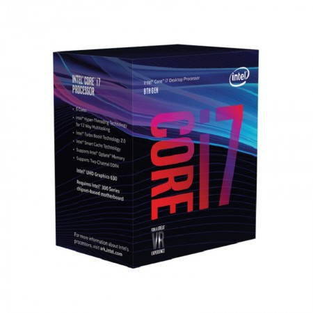 PROCESADOR INTEL CORE I7 8700 3.2GHZ S1151 12MB IN BOX