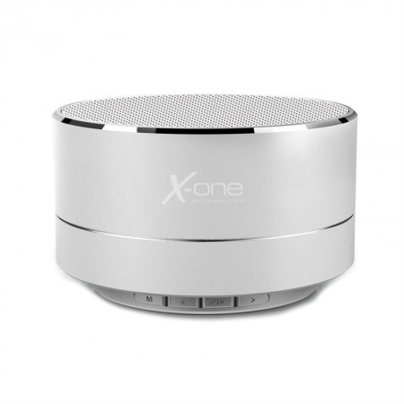 X-One ABT1000S Altavoz portátil BT mSD ML Plata